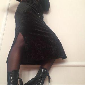 Dresses & Skirts - Black Velvet Maxi Skirt